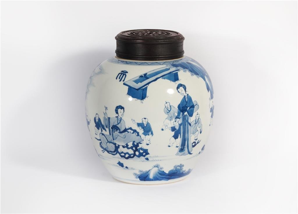 A Blue and White Jar Kangxi Period