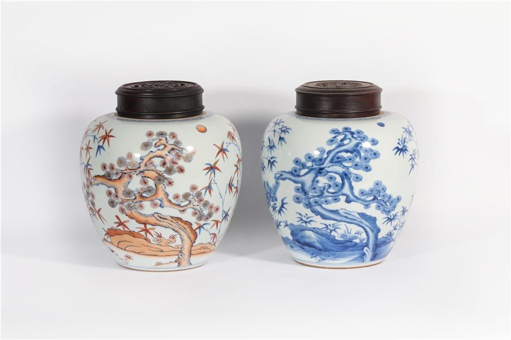 Two Porcelain Jars Yongzheng Period