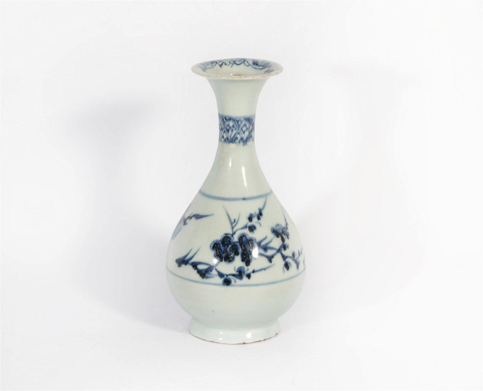 A Blue and White Yuhuchunping Yuan Dynasty