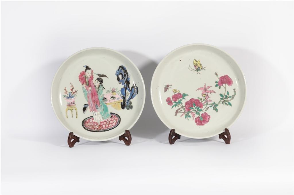 Two Famille Rose Plates Yongzheng Period