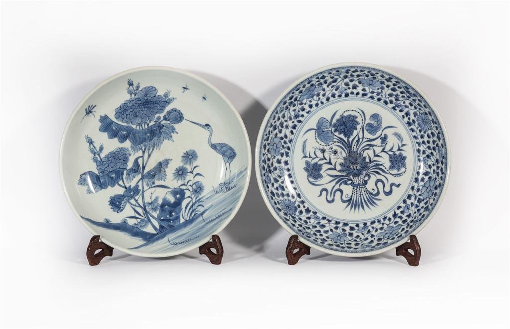 Two Blue and White Plates Yongzheng Period