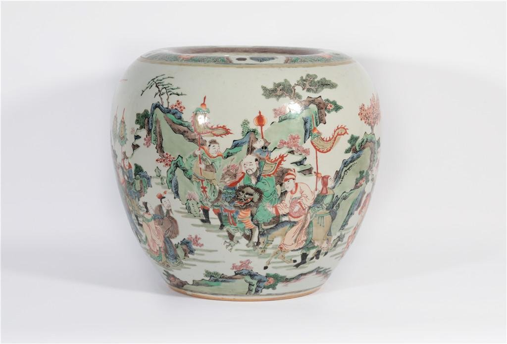 A Famille Verte Jardiniere Qing Dynasty