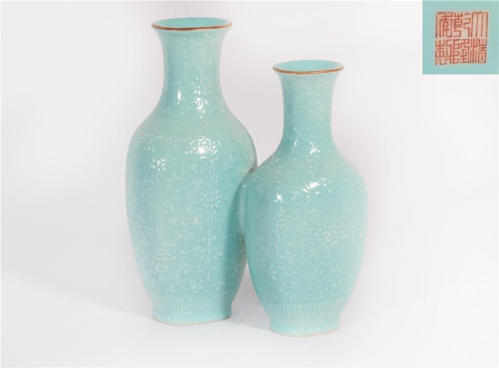 A Turquoise Glazed Vase Qianlong Period