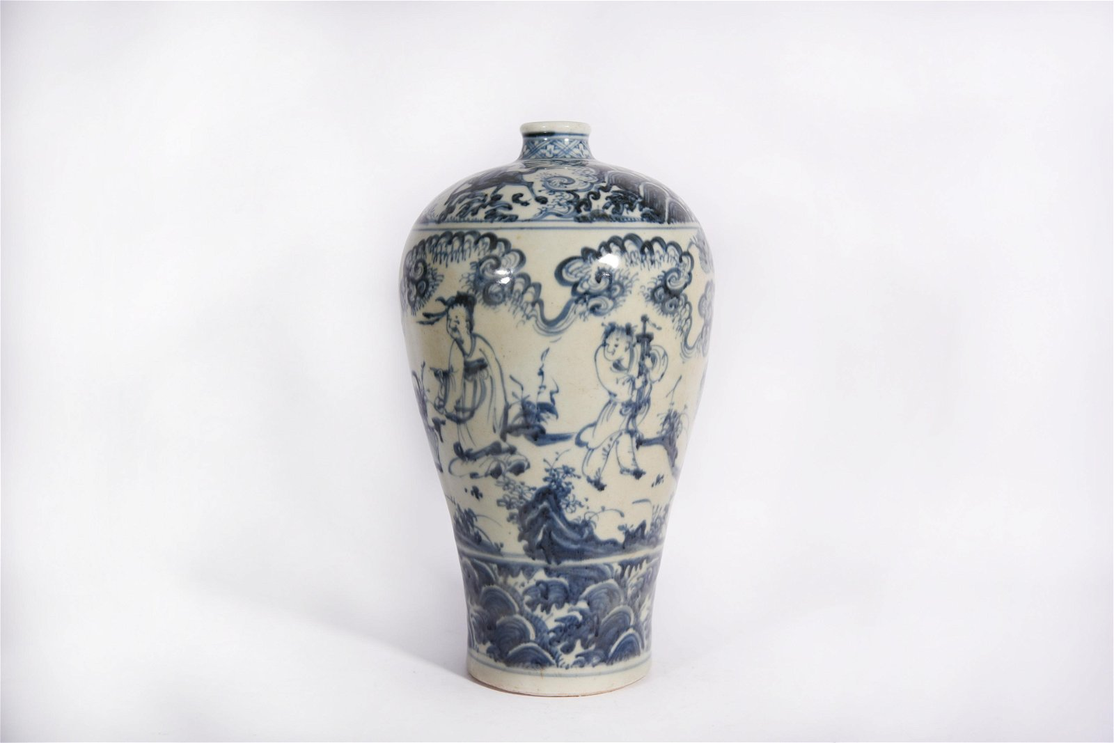 A Blue and White Meiping Ming Dynasty