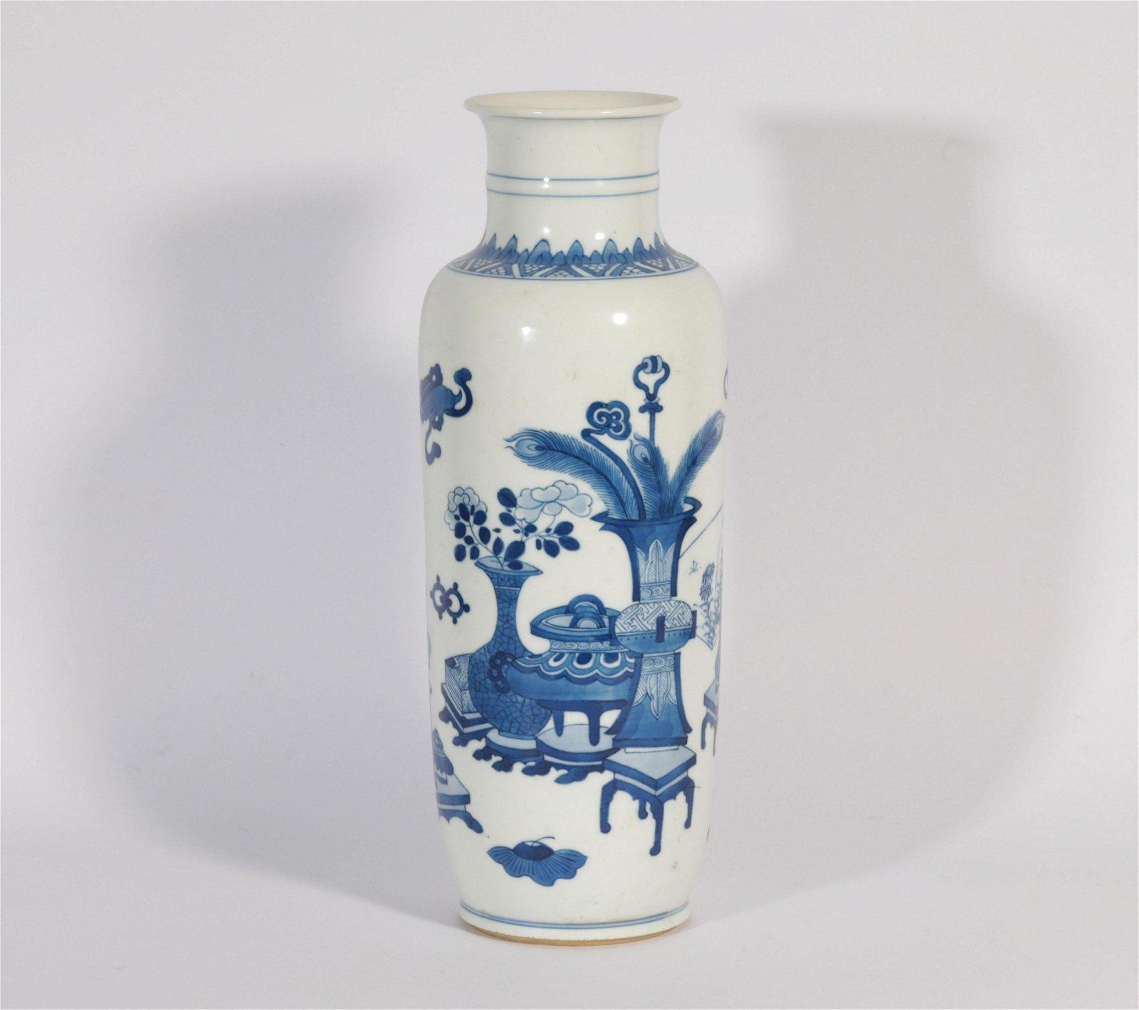A Blue and White Mallet Vase Kangxi Period
