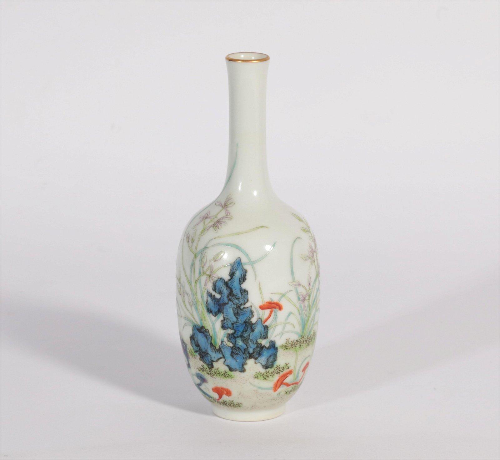 A Famille Rose Vase Yongzheng Period