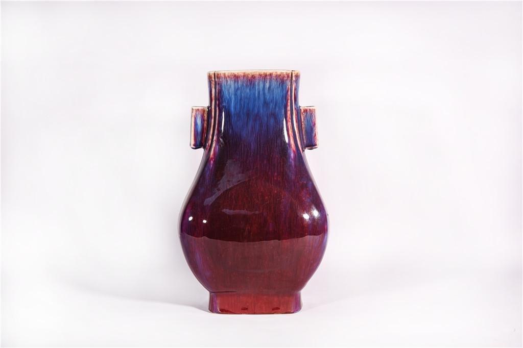 A Flambe Glazed Arrow Vase Qianlong Period
