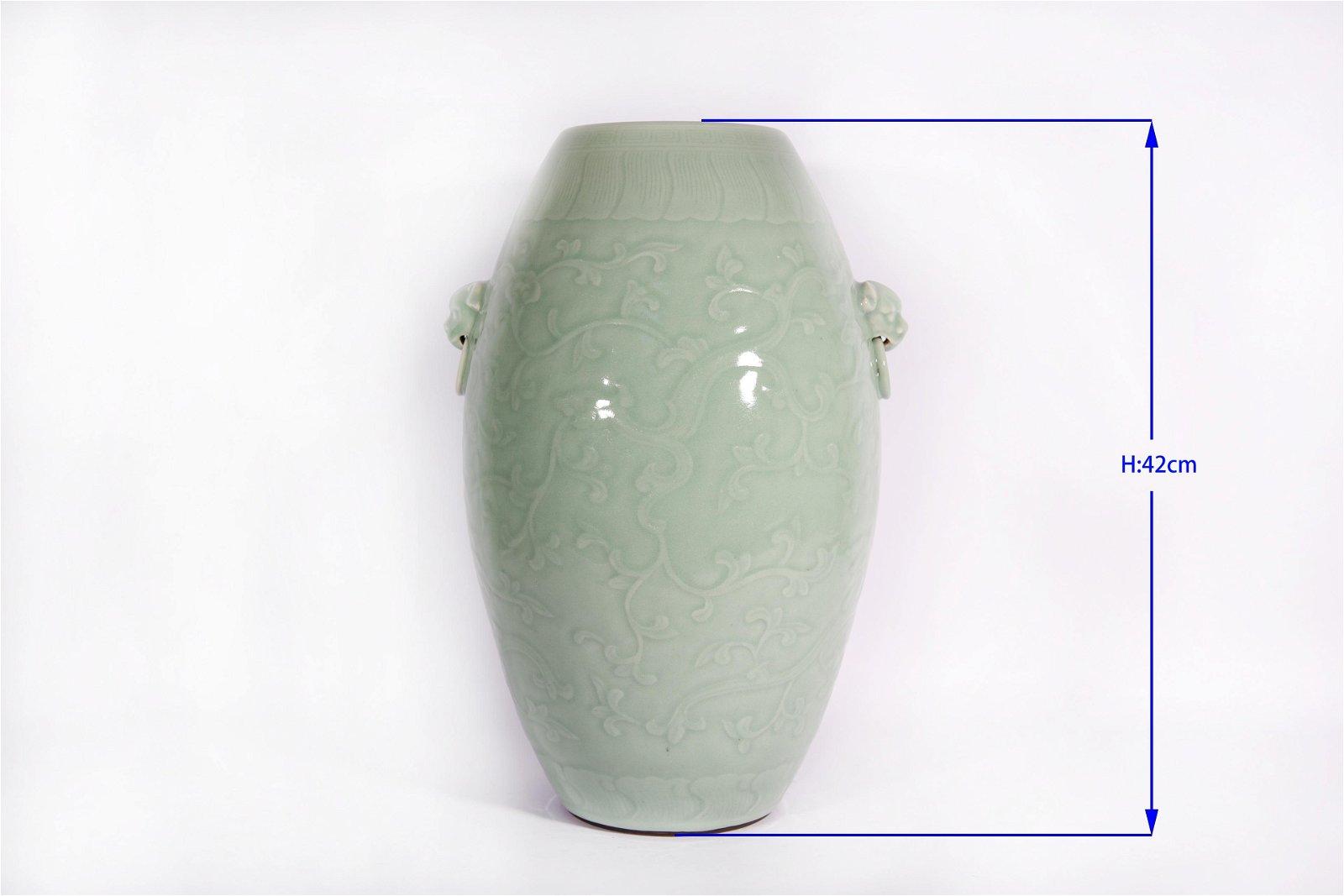 A Celadon Glazed Vase Qianlong Period