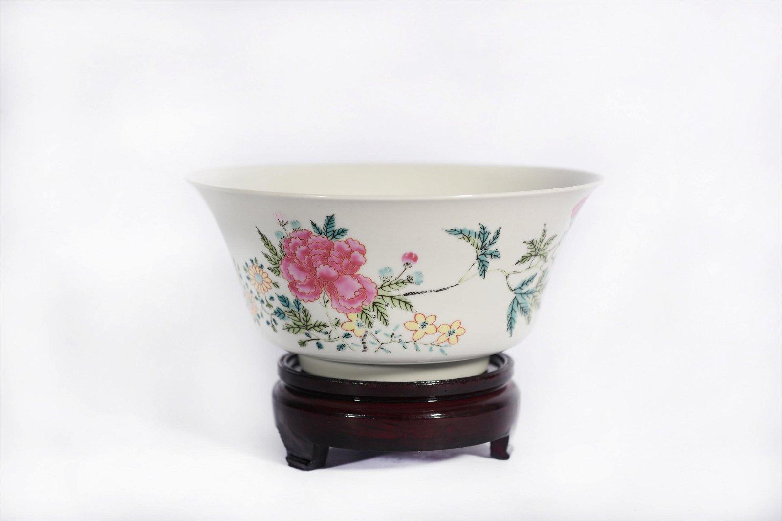 A Famille Rose Bowl Qianlong Period
