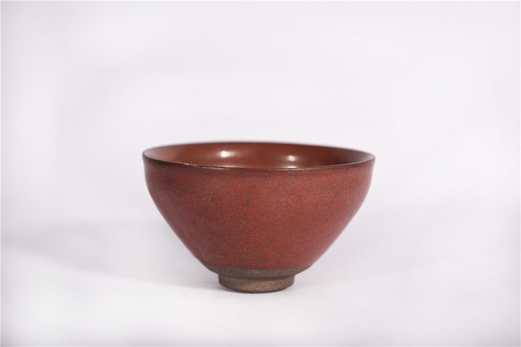 A Persimmon Colored Tea Bowl Song Dynasty