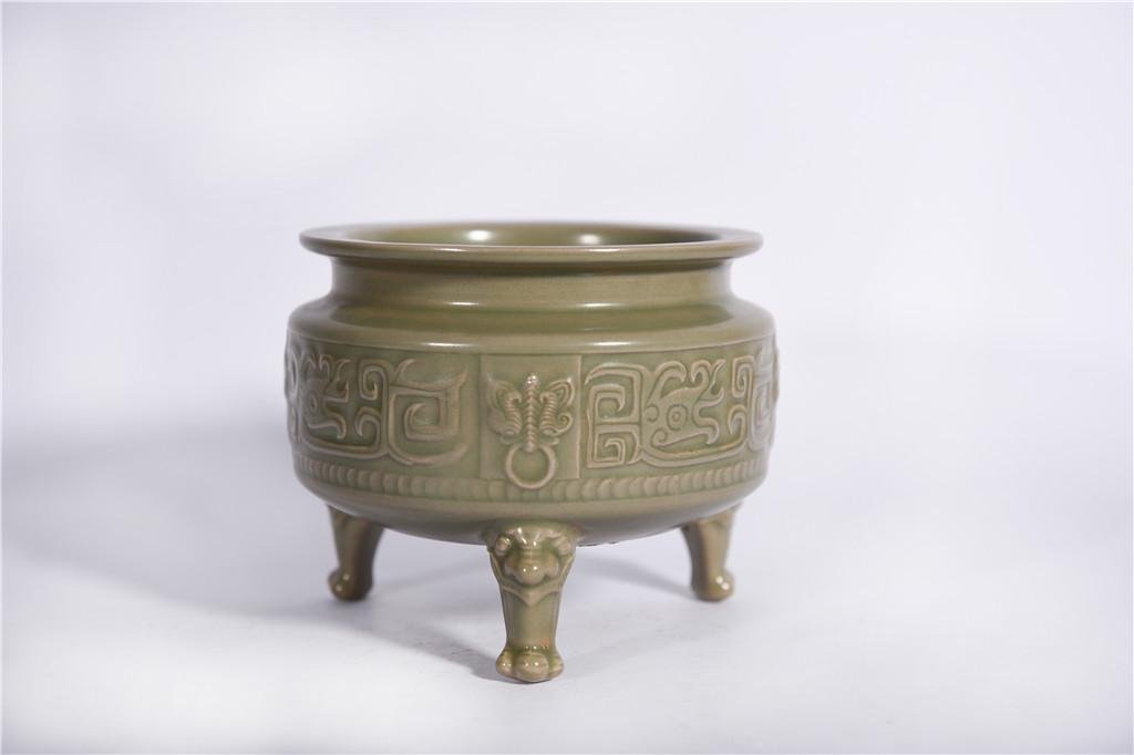 A Yue Tripod Censer Five Dynasties