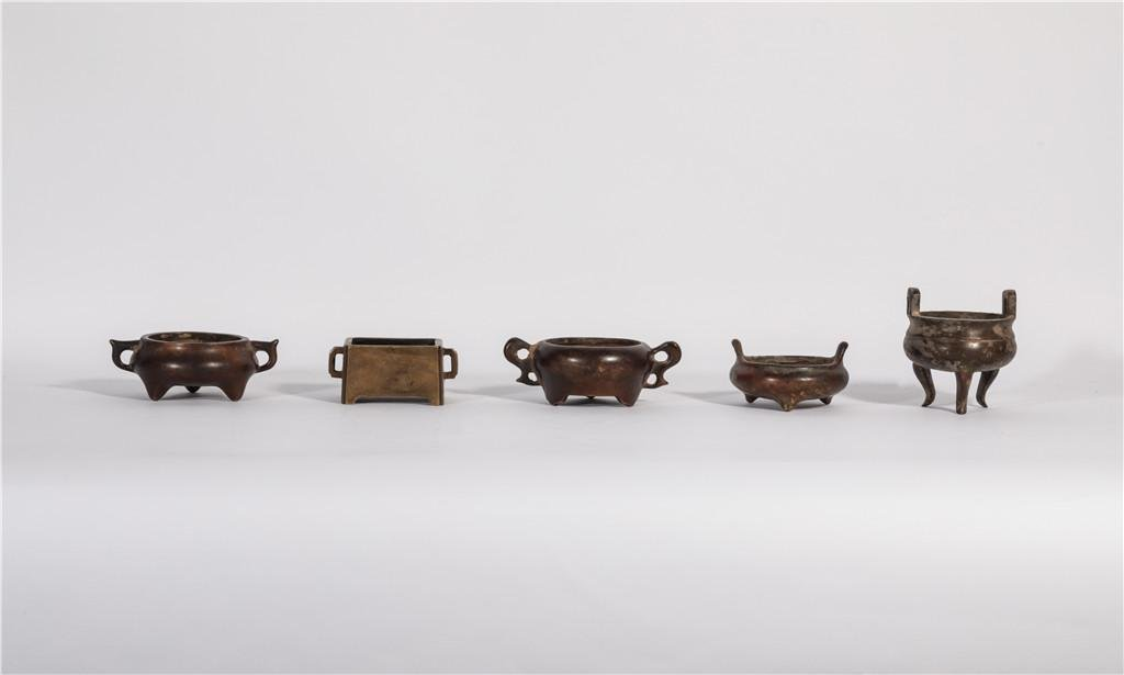 A Collection of Bronze Censers Qing Dynasty