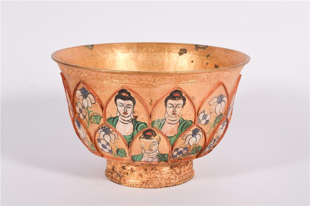 A Bronze Gilt Bowl Qianlong Period