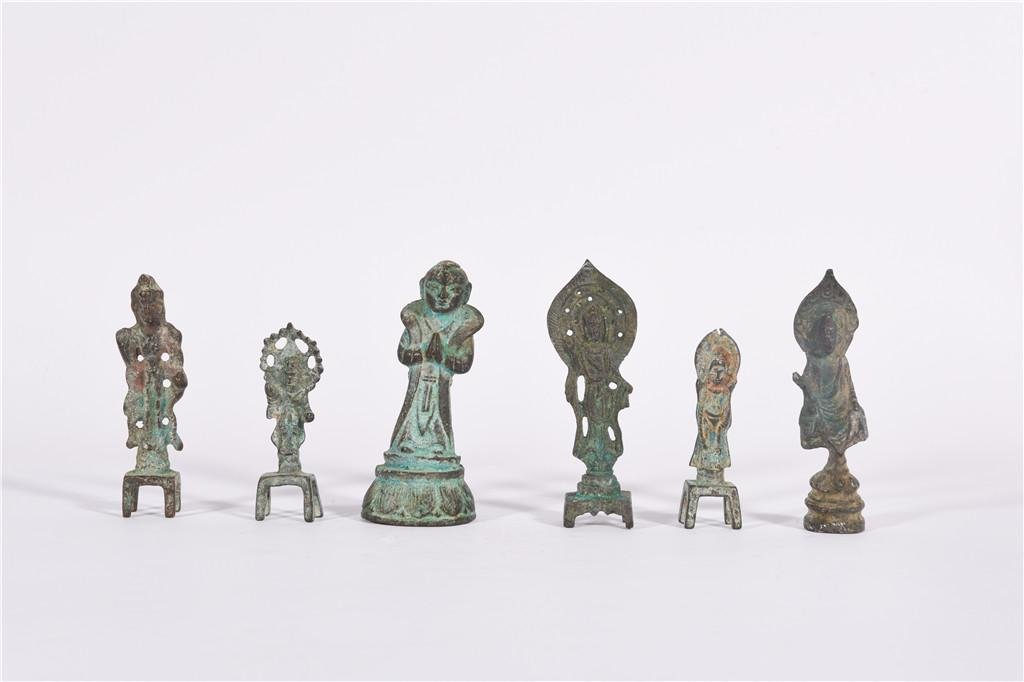 A Collection of Bronze Statues