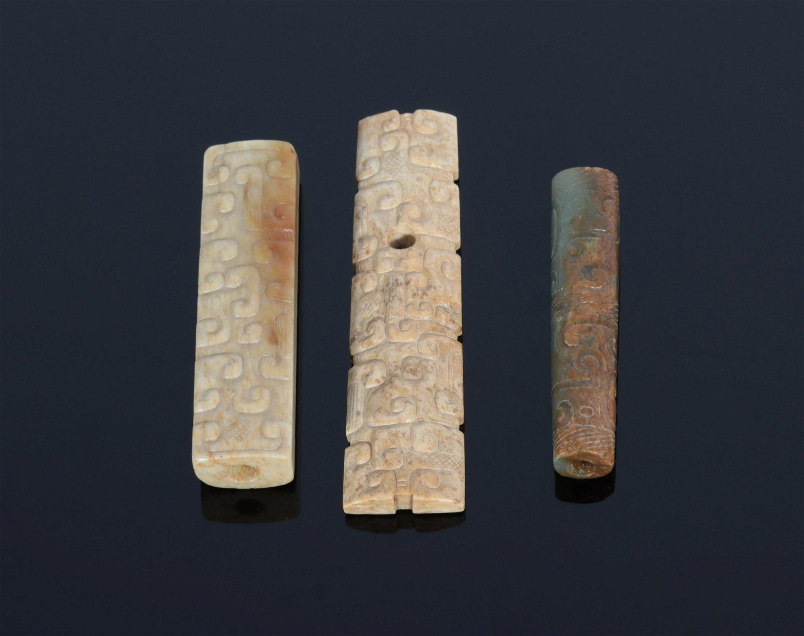 Three Jade Ornaments Warring States Period