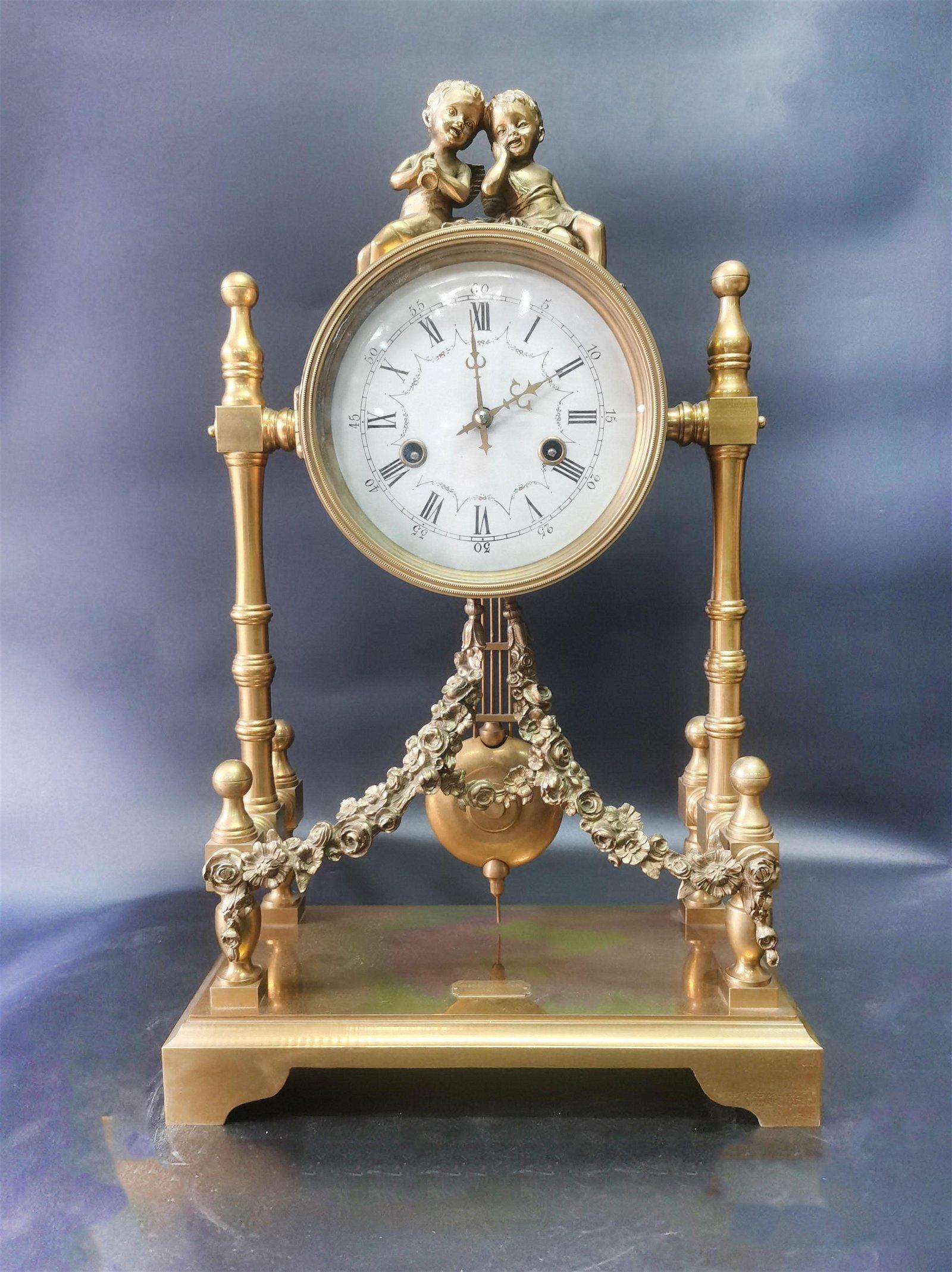 A Bronze Gilt Clock 18-19th Century