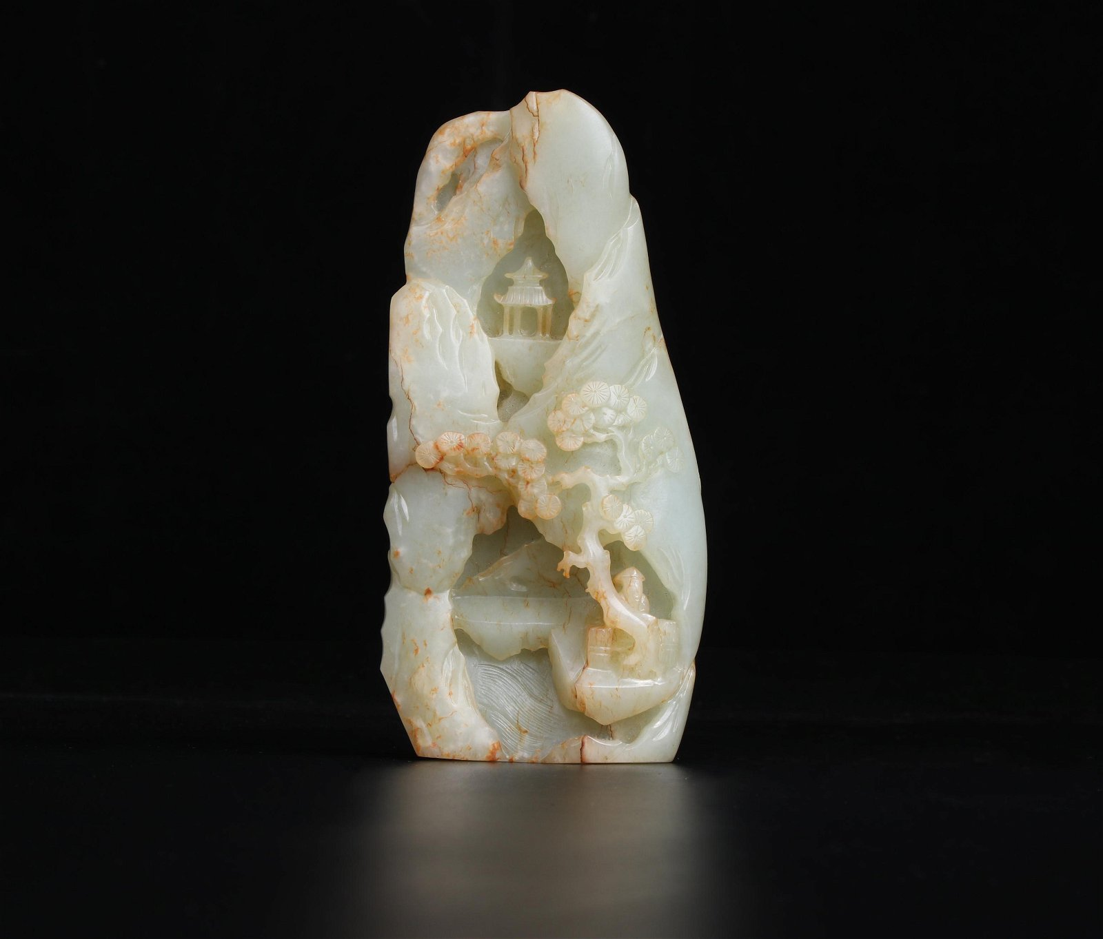 A Carved White Jade Boulder Qing Dynasty