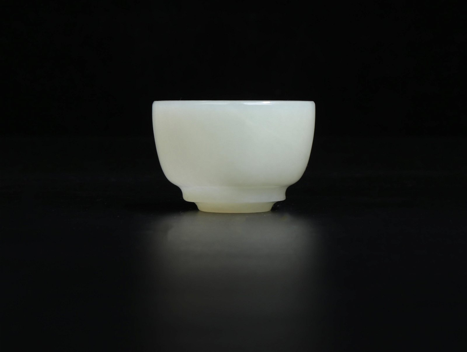 A White Jade Cup Qing Dynasty