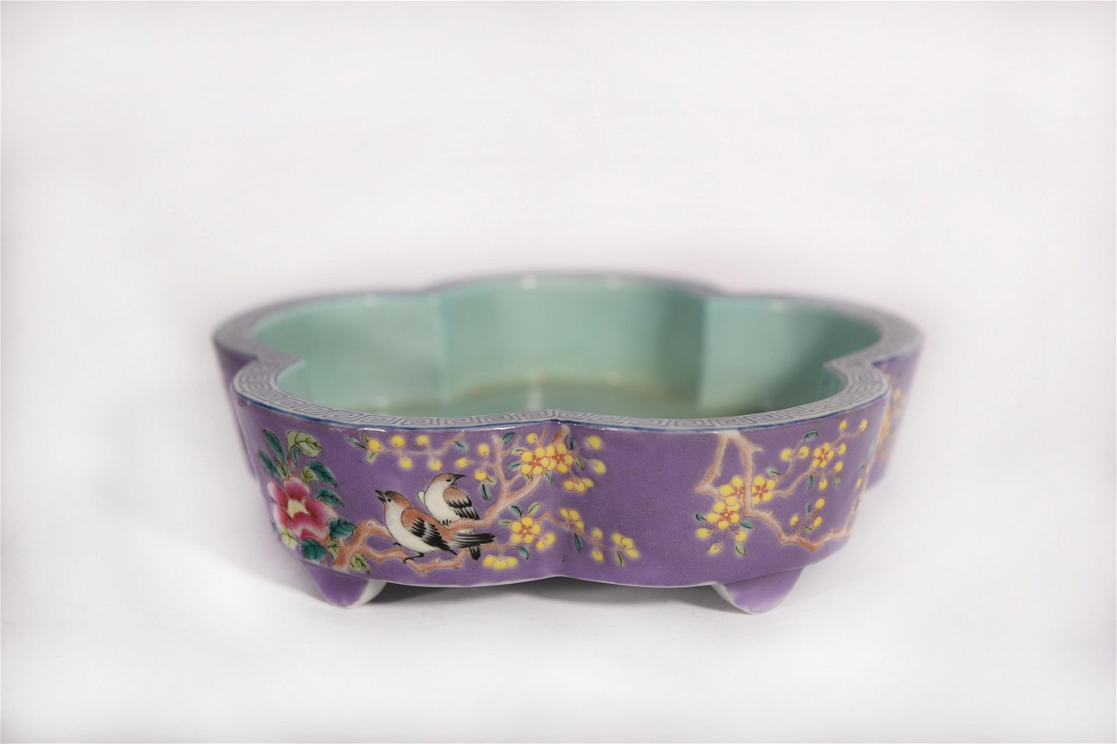 A Famille Rose Narcissus Bowl Guangxu Period