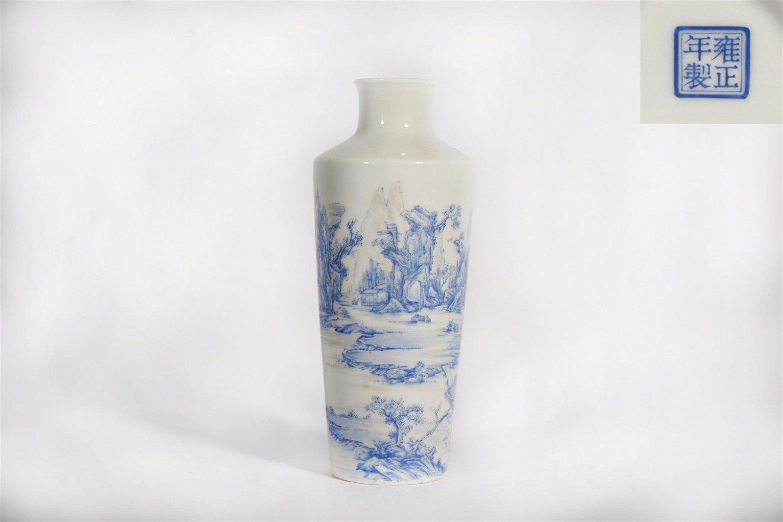 A Falangcai Landscape Vase Yongzheng Period