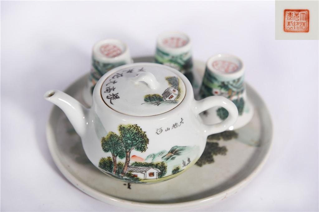 A Set of Famille Rose Table-wares Republic Period