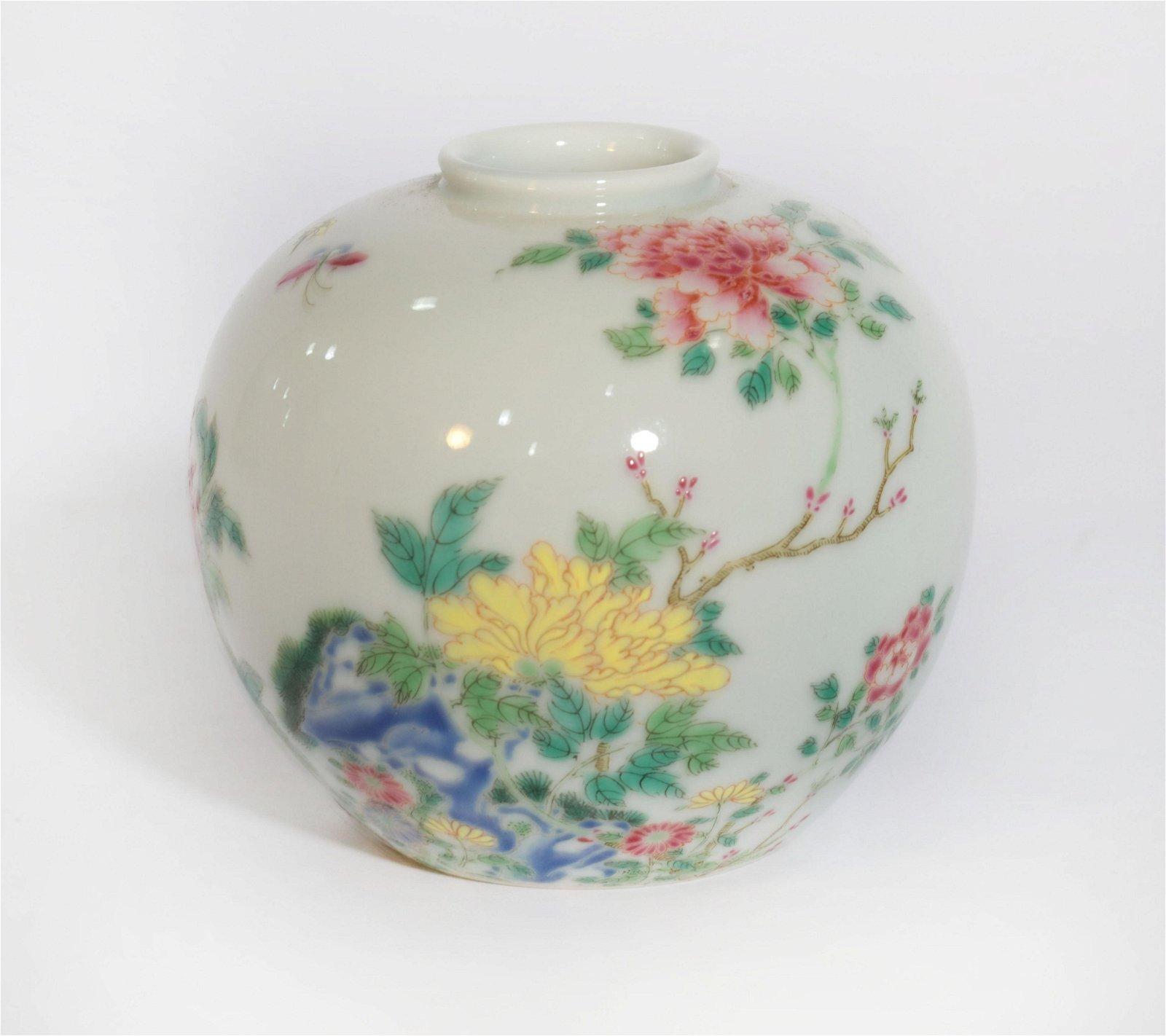 A Famille Rose Floral Water Pot Yongzheng Period