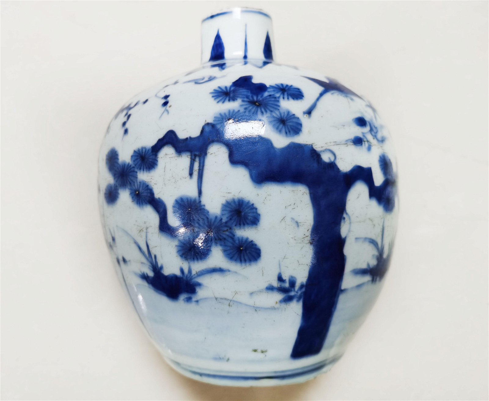A Blue and White Jar and Cover Wanli Period