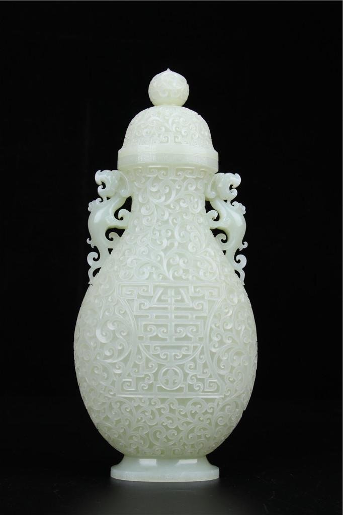 A White Jade Vase Qing Dynasty