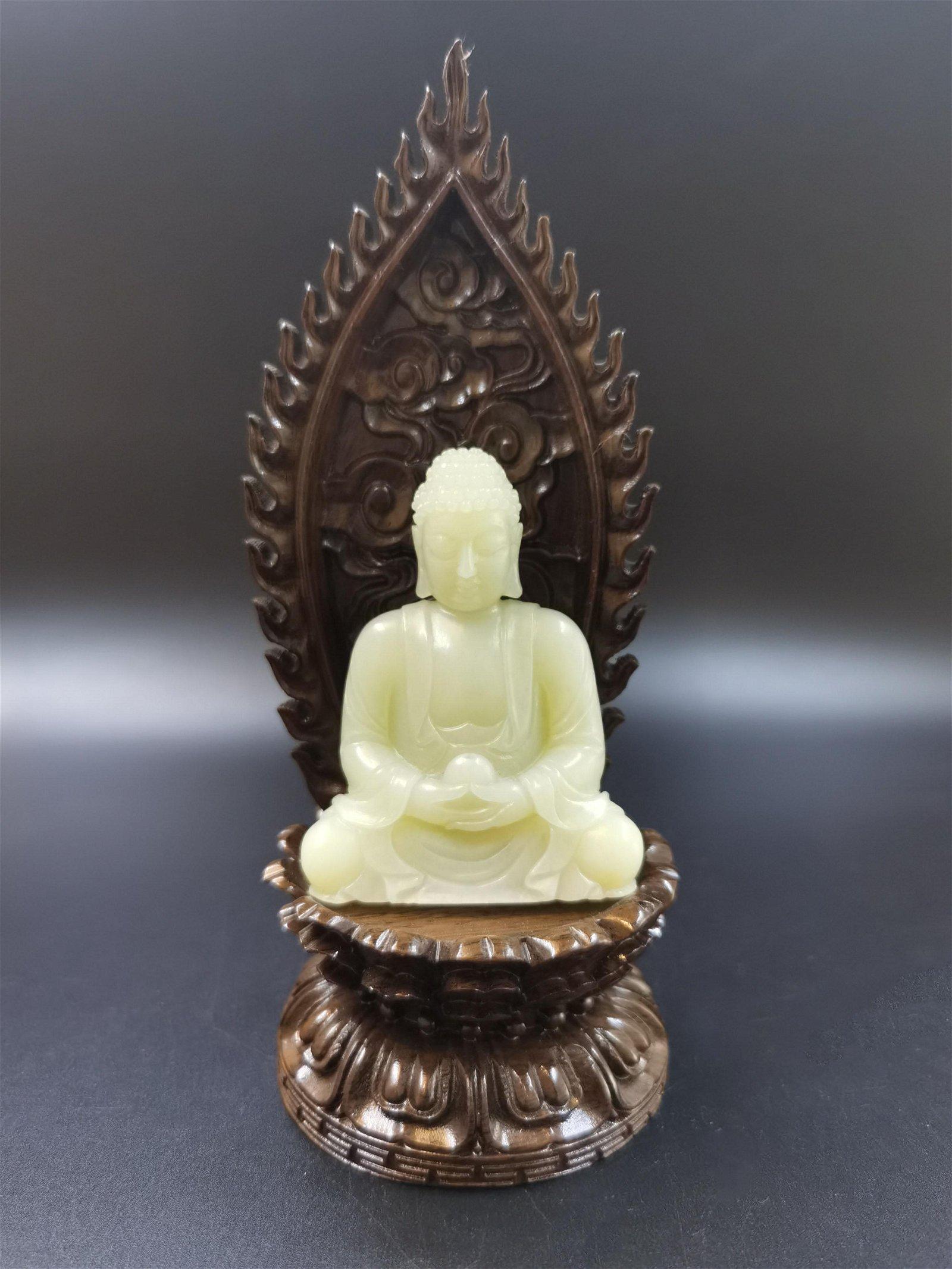 A Jade Buddha Qing Dynasty