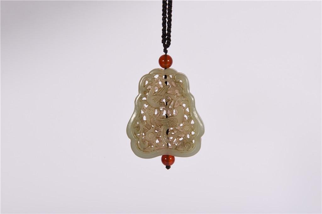 A Reticulated Jade Pendant Qing Dynasty