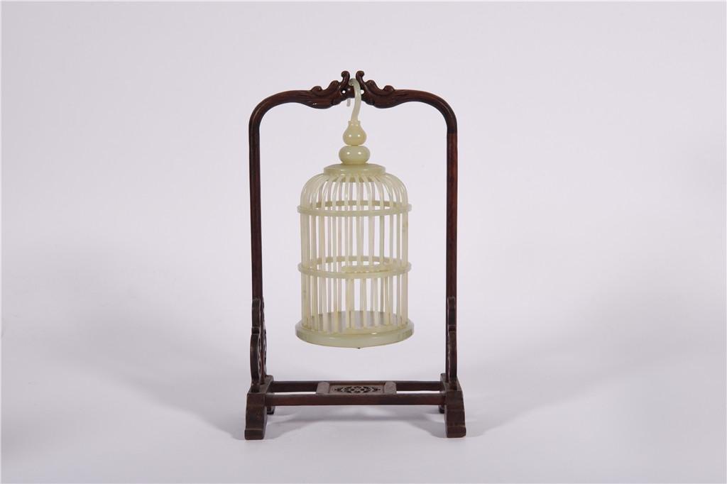 A Jade Bird Cage Qing Dynasty