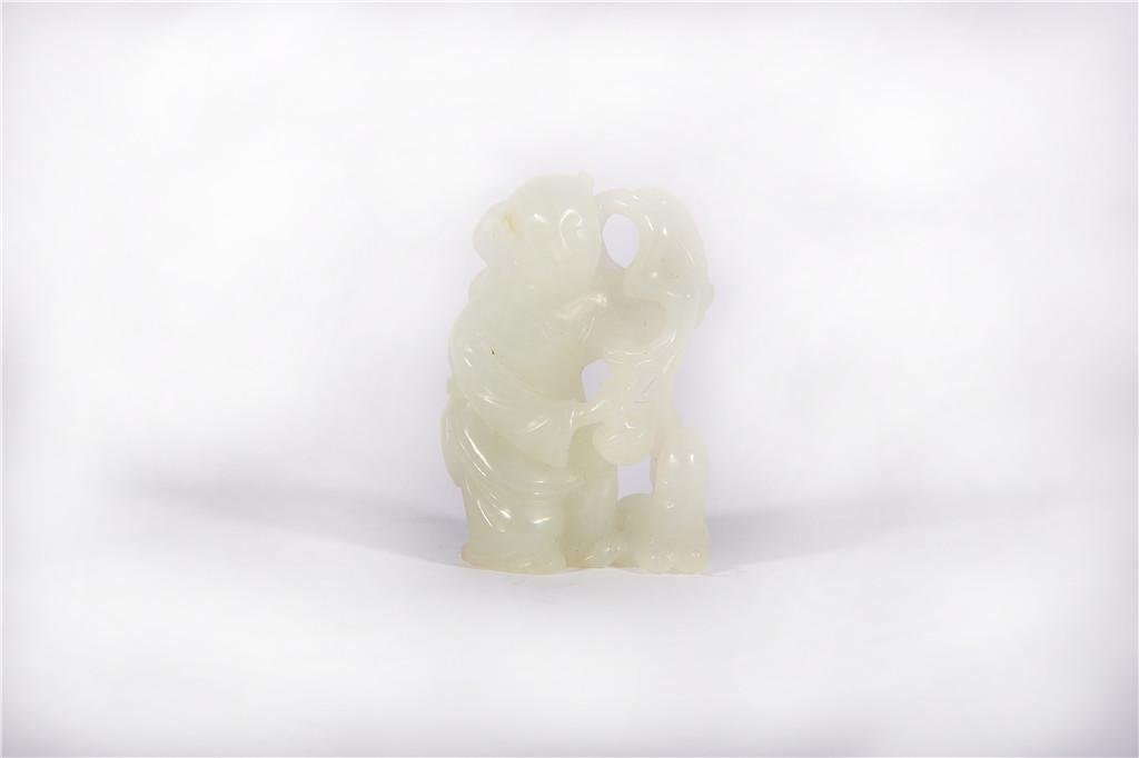 A White Jade Carving Qing Dynasty