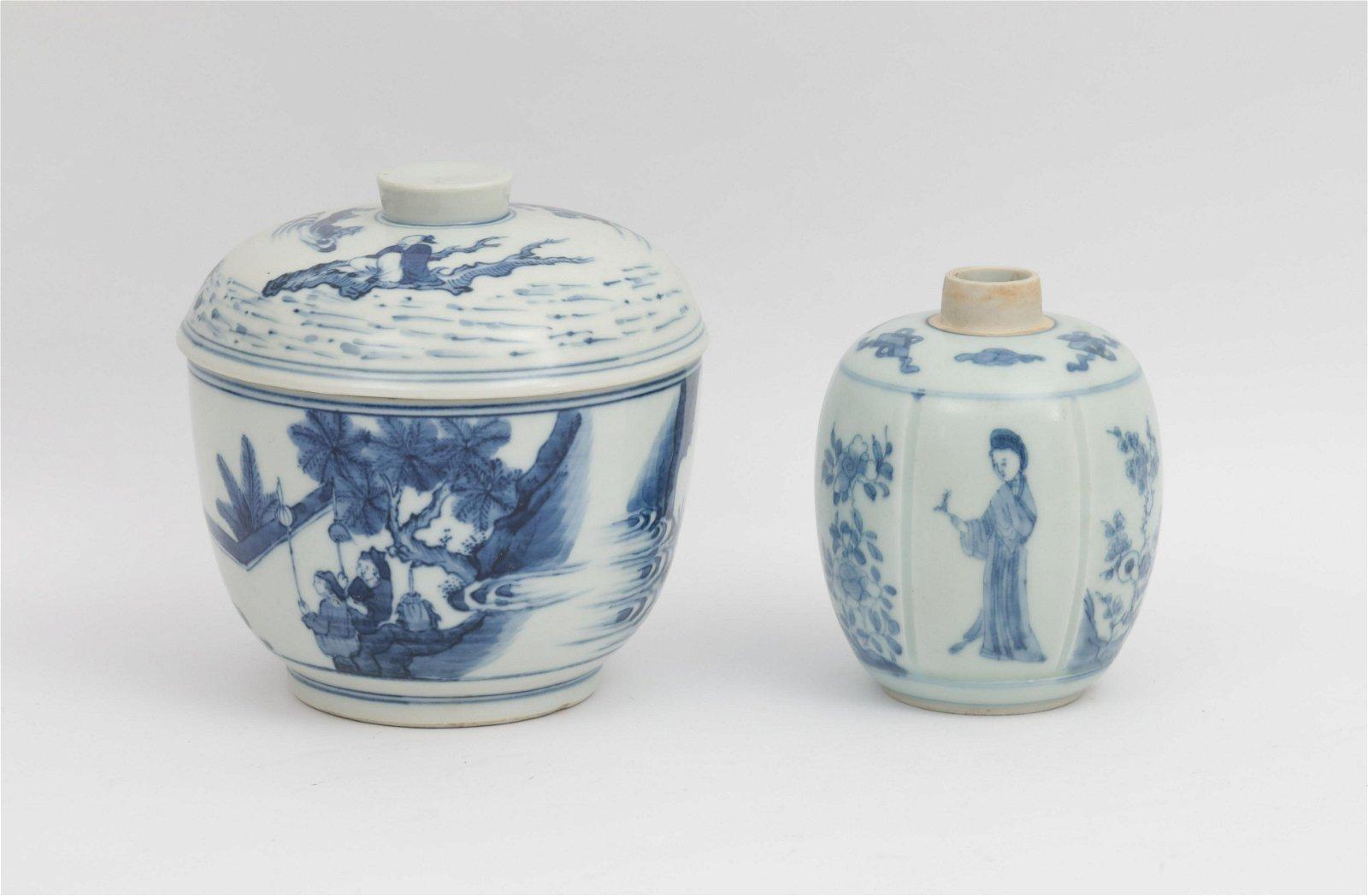 Two Blue and White Jars Kangxi Period