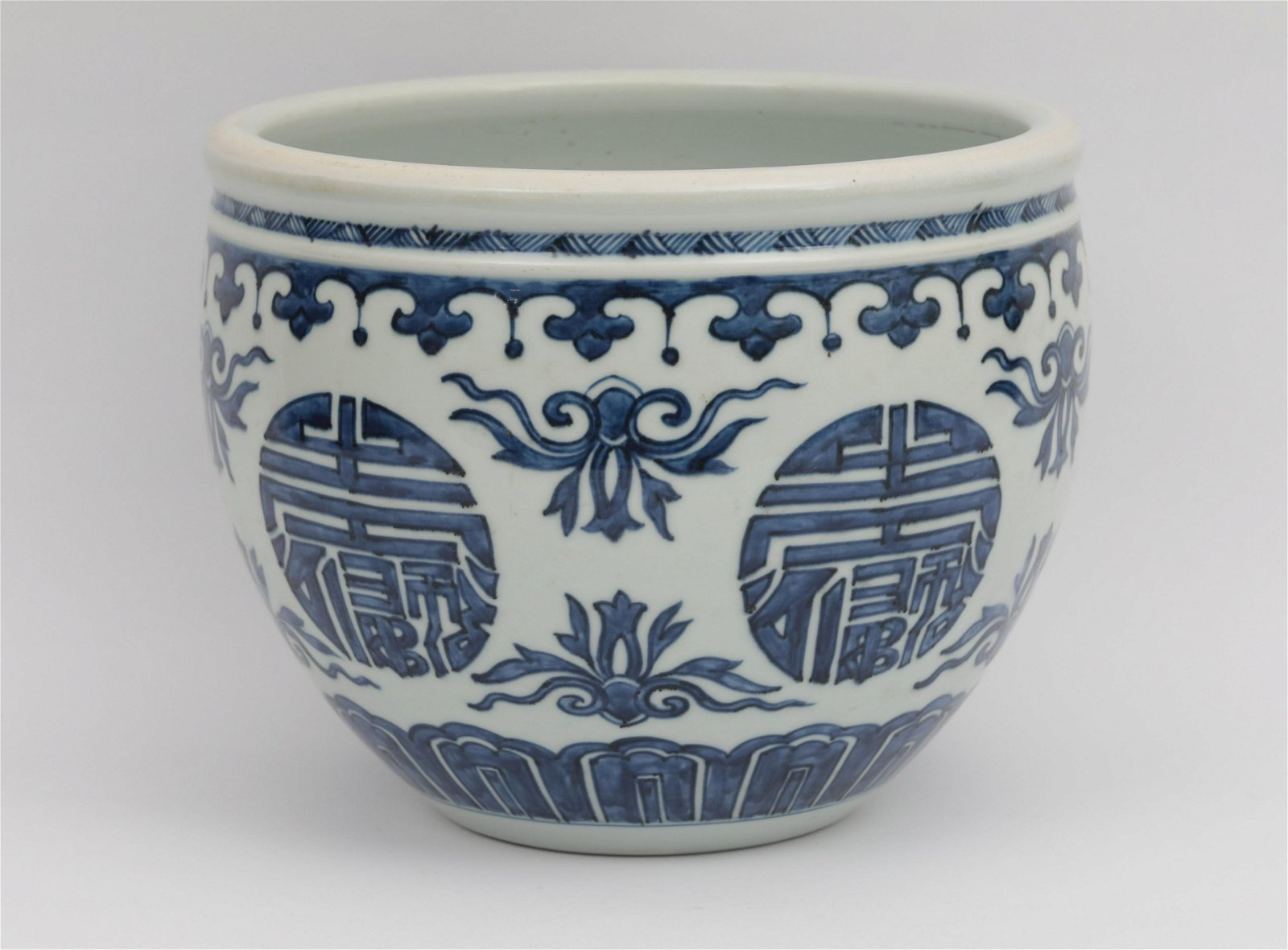 A Blue and White Jardiniere Kangxi Period