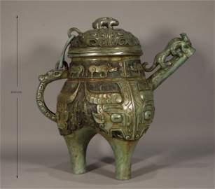Bronze Wine Vessel Shang Style