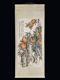 A Chinese Fruit Painting,Wu Changshuo Mark