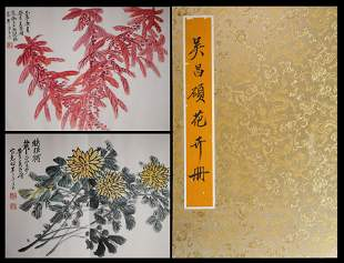 AN ANCIENT CHINESE FLOWER PAINTING ALBUM, WU CHANGSHUO