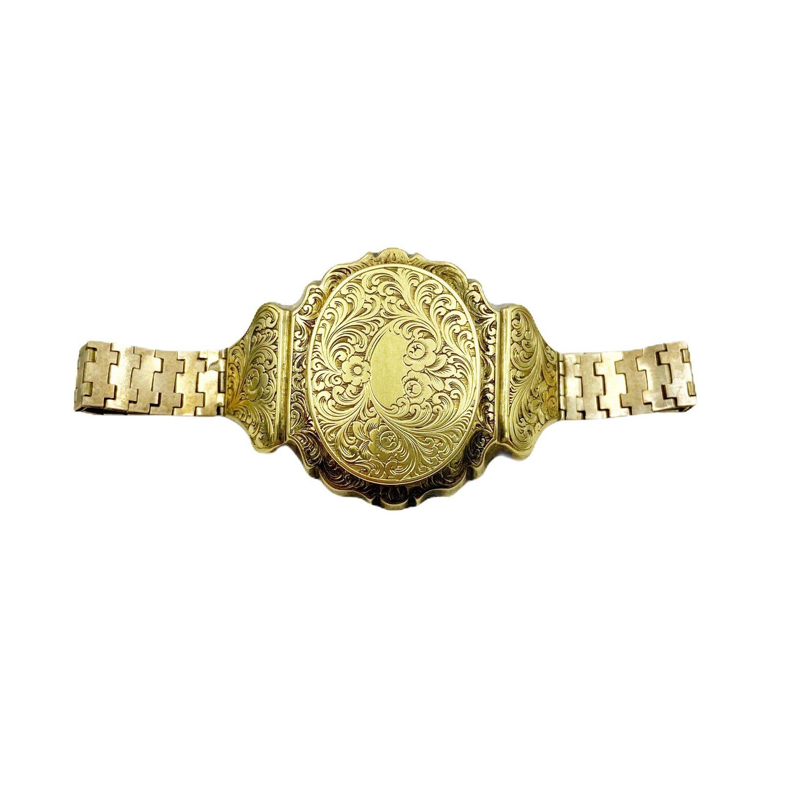 Victorian Gold Locket Bracelet
