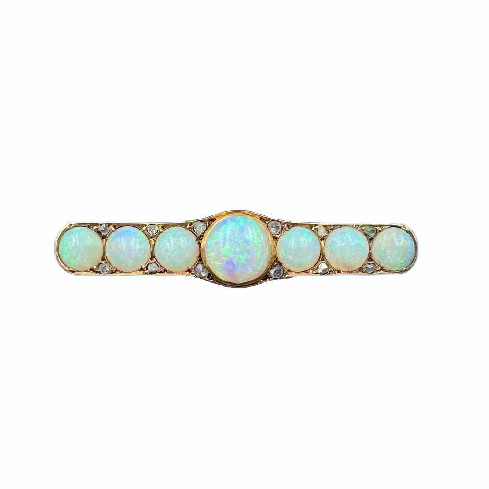 Victorian Gold Opal Pin