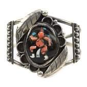 Zuni Multi-Stone Mudhead Kachina Bracelet