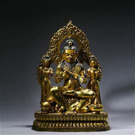A Gilt-bronze Statue of Buddha