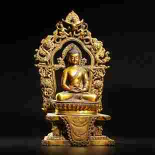 A Gilt Bronze Seated Buddha
