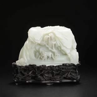 A Hetian Jade Figure Boulder