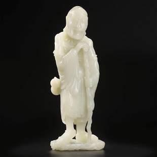 A Hetian Jade Figure Of Tieguai Li