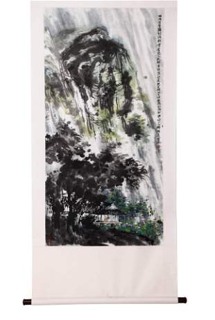 A Chinese Painting Of Landsape Signed Cui Ruzhuo