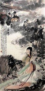 A Chinese Painting Of Lady Signed Fu Baoshi