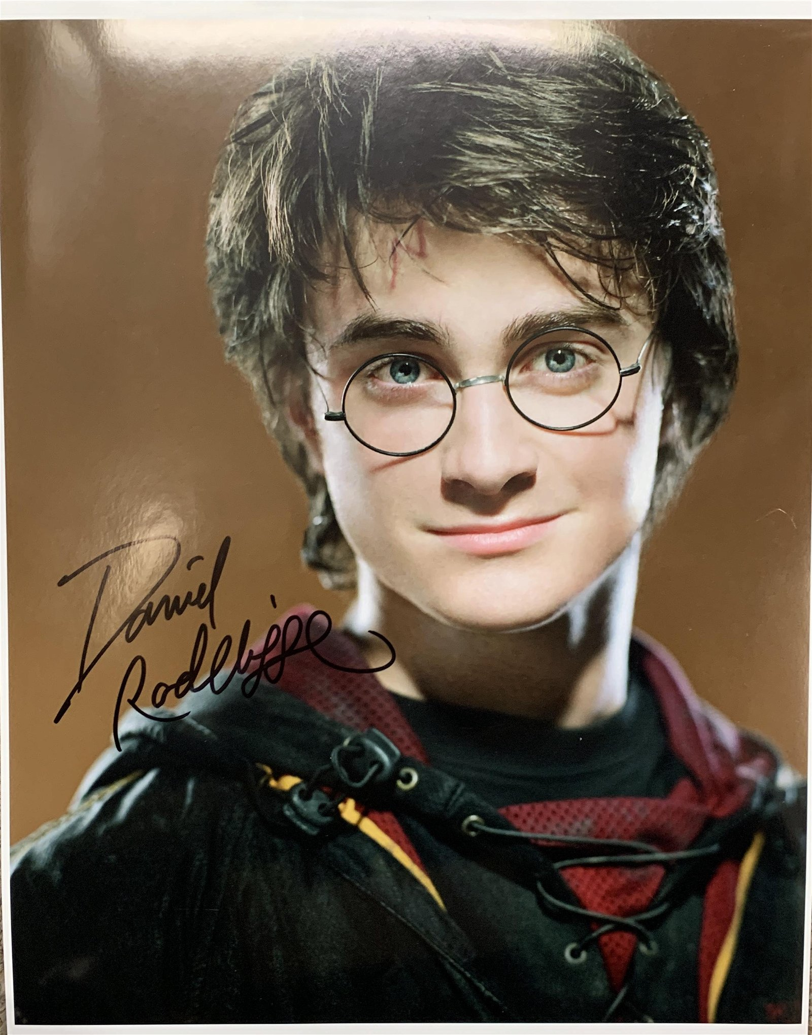 Daniel Radcliffe signed Harry Potter photo
