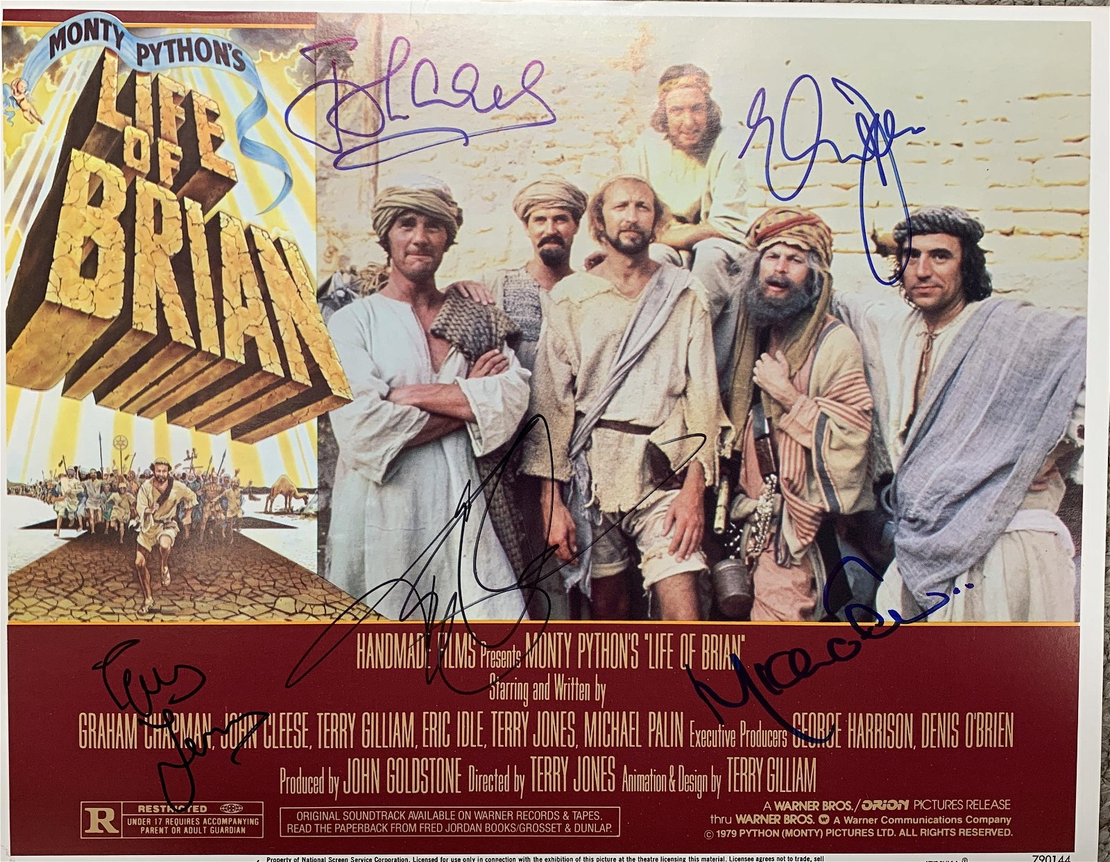 Monty Python The Life of Brian signed lobby card