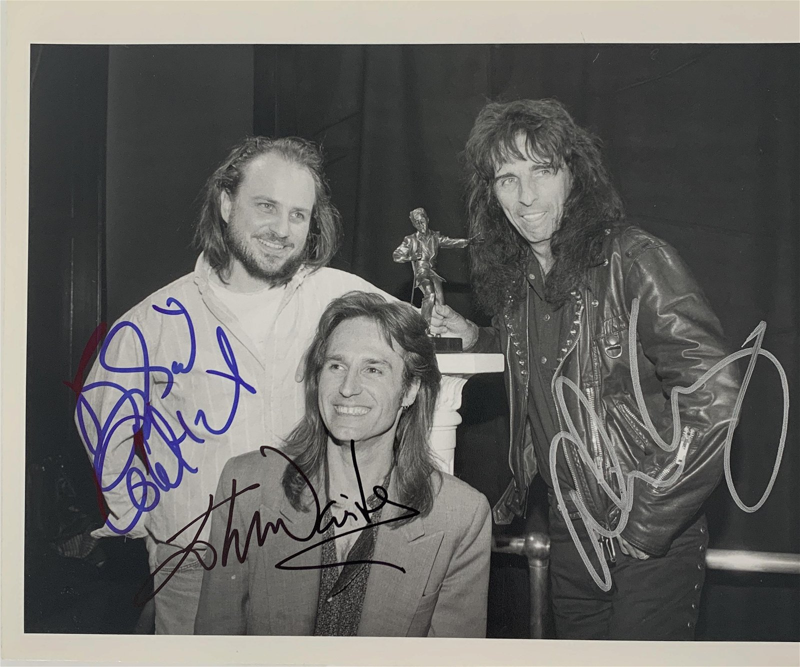 Bobcat Goldwaite, Alice Cooper and John Waite signed