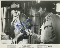 John Wayne signed movie photo